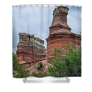07.30.14 Palo Duro Canyon - Lighthouse Trail  19e Shower Curtain