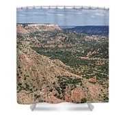 07.30.14 Palo Duro Canyon - Lighthouse Trail 5e Shower Curtain