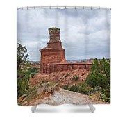07.30.14 Palo Duro Canyon - Lighthouse Trail 62e Shower Curtain
