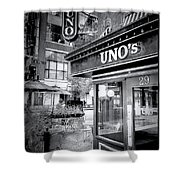 0748 Uno's Pizzaria Shower Curtain