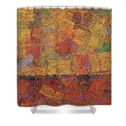 0774 Abstract Thought Shower Curtain
