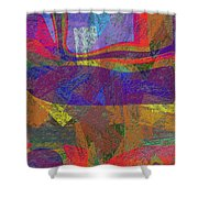 0781 Abstract Thought Shower Curtain