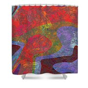 0782 Abstract Thought Shower Curtain