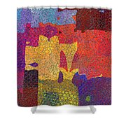 0787 Abstract Thought Shower Curtain