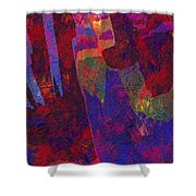 0788 Abstract Thought Shower Curtain