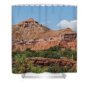 08.03.14 Palo Duro Canyon Rojo Grande Trail 10e Shower Curtain