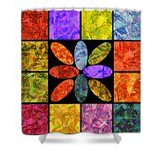 0804 Abstract Thought Shower Curtain