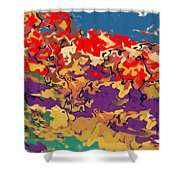 0806 Abstract Thought Shower Curtain