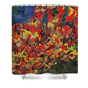 0808 Abstract Thought Shower Curtain
