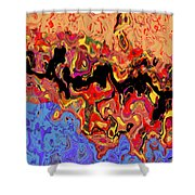 0809 Abstract Thought Shower Curtain