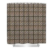 0811 Abstract Thought Shower Curtain