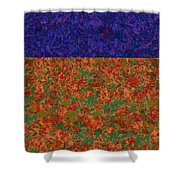 0834 Abstract Thought Shower Curtain