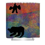 0864 Abstract Thought Shower Curtain