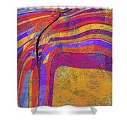 0871 Abstract Thought Shower Curtain