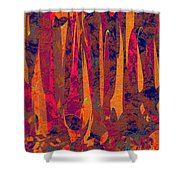 0917 Abstract Thought Shower Curtain