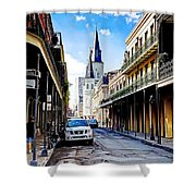 0928 St. Louis Cathedral - New Orleans Shower Curtain