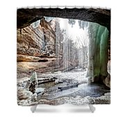 0938 Lasalle Falls - Starved Rock State Park Shower Curtain
