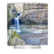 0940 Cascade Falls - Matthiessen State Park Shower Curtain