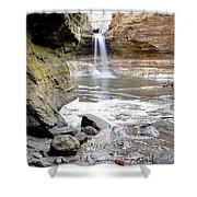 0941 Cascade Falls - Matthiessen State Park Shower Curtain