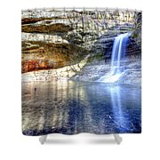 0943 Cascade Falls - Matthiessen State Park Shower Curtain