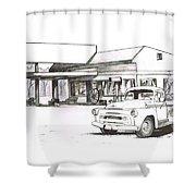 095b-truck Shower Curtain