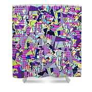 0978 Abstract Thought Shower Curtain