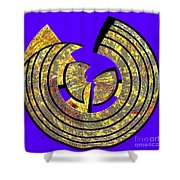 0985 Abstract Thought Shower Curtain
