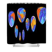 0986 Abstract Thought Shower Curtain