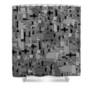 0992 Abstract Thought Shower Curtain