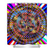 0994 Abstract Thought Shower Curtain