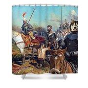 Alaskan Malamute Art Canvas Print Shower Curtain