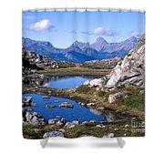 Artist Ridge Tarns Shower Curtain