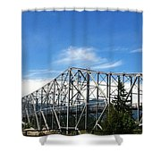 Bridge Of Gods Shower Curtain