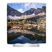 Cirque Of The Towers In Lonesome Lake 5 Shower Curtain