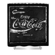 Coca Cola Sign Black And White Shower Curtain