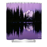 Glacier Peak  In Image Lake Shower Curtain