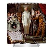 Keeshond Art Canvas Print Shower Curtain