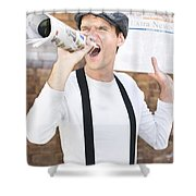 Paperboy Shower Curtain