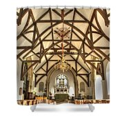 Plaxtol Church  Shower Curtain
