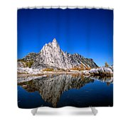 Prusik Peak Reflects In Gnome Tarn Shower Curtain