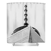 Scenery Near World Trade Center In New York C Shower Curtain