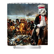 Tibetan Terrier Art Canvas Print Shower Curtain