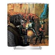 Wetterhoun Art Canvas Print Shower Curtain