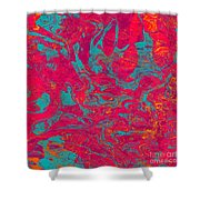 0217 Abstract Thought Shower Curtain