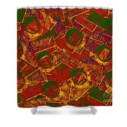 0255 Abstract Thought Shower Curtain