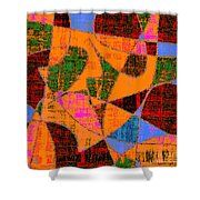 0267 Abstract Thought Shower Curtain