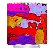 0319 Abstract Thought Shower Curtain