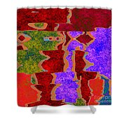 0322 Abstract Thought Shower Curtain