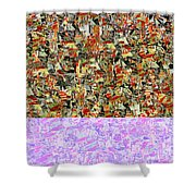 0415 Abstract Thought Shower Curtain