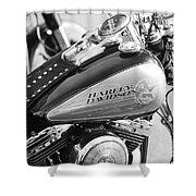 110th Anniversary Harley Davidson Shower Curtain